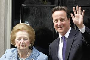 David+Cameron+and+Margaret+Thatcher